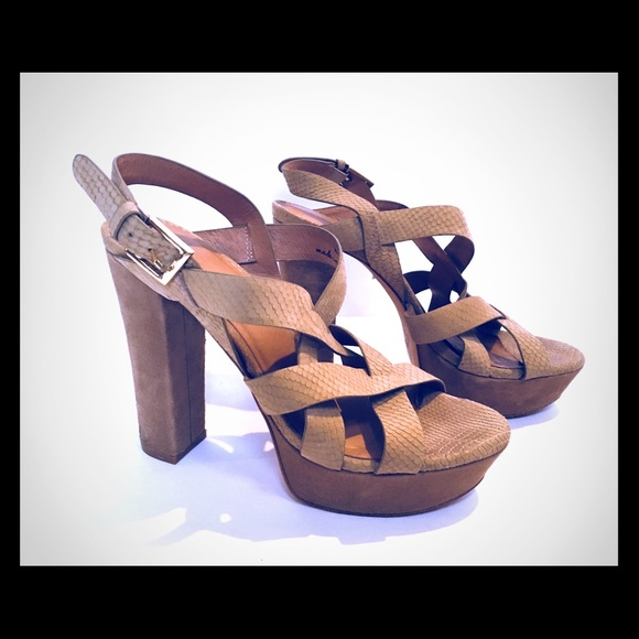 9190a5ff488f Joie Shoes - Joie Inez platform sandal in cement snake